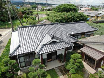 指宿市西方 K様邸 葺き替え工事事例