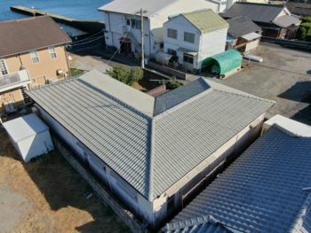 鹿児島市G様 指宿保養所 屋根葺替工事事例